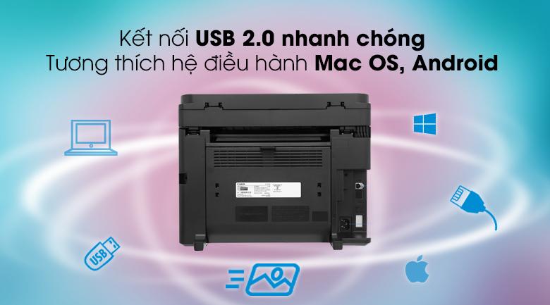 Máy in Laser Canon đa chức năng MF241d - Kết nối USB