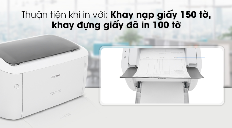 Máy in Laser Canon LBP 6030W - Khay chứa giấy thuận tiện