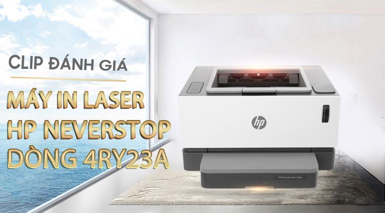 Máy In Laser Trắng Đen HP Neverstop Laser 1000w Wifi (4RY23A)