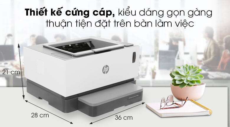 Máy in HP Neverstop Laser 1000w (4RY23A) - Thiết kế
