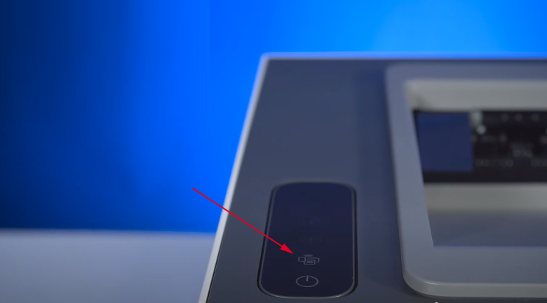 Máy in HP Neverstop 1000w (4RY23A) - Nhấn nút Wifi Direct