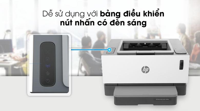 Máy in HP Neverstop Laser 1000w (4RY23A) - Bảng điều khiển