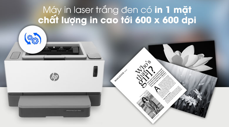 Máy in HP Neverstop Laser 1000w (4RY23A) - Chất lượng bản in