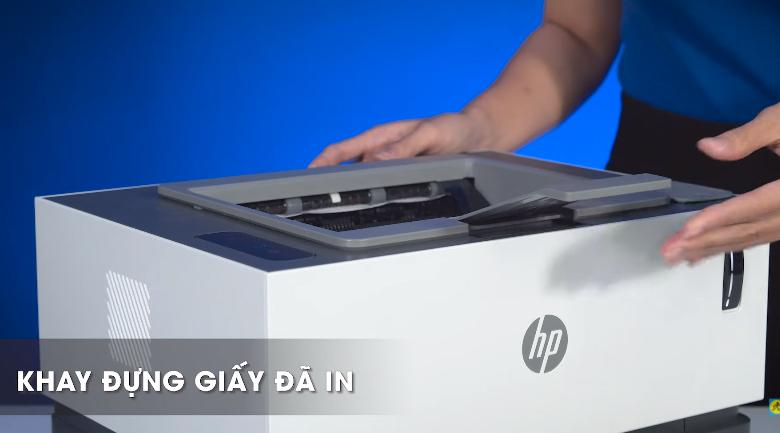 Máy in HP Neverstop 1000w (4RY23A) - Mở khay đựng giấy đã in ra