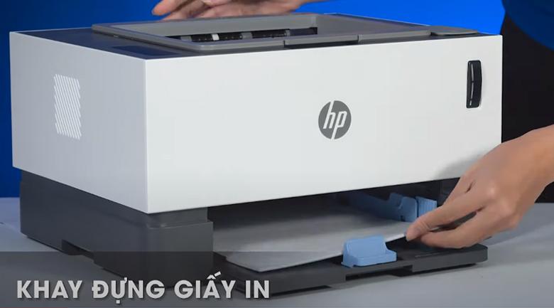 Máy in HP Neverstop 1000w (4RY23A) - Đặt giấy in vào khay đựng giấy in