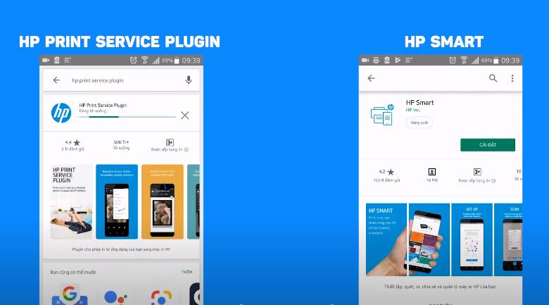 Máy in HP Neverstop 1000w (4RY23A) - Cài HP PRINT SERVICE PLUGIN và HP SMART