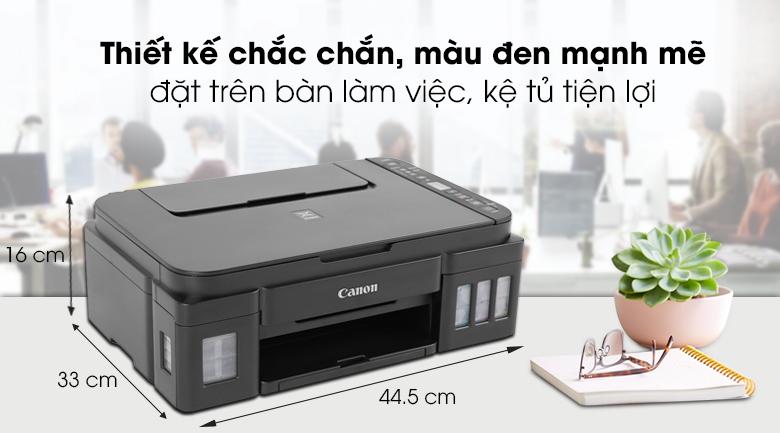 Máy in phun màu đa năng In-Scan-Copy Canon PIXMA G3010 - Kiểu dáng chắc chắn