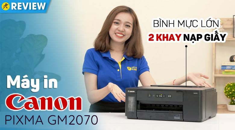 Máy In Phun Trắng Đen Canon PIXMA GM2070 Wifi