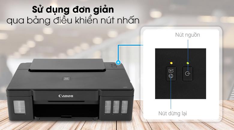 Máy in phun màu đơn năng Canon PIXMA G1010 - Bảng điều khiển nút nhấn đơn giản