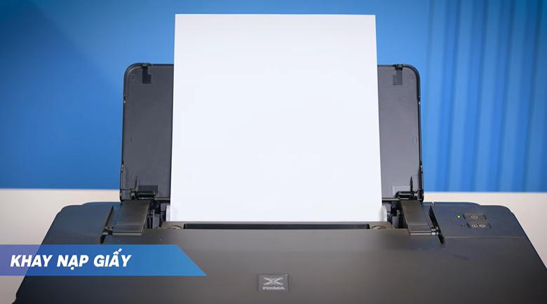 Máy in phun màu đơn năng Canon PIXMA G1010 - Đặt giấy in vào khay nạp giấy