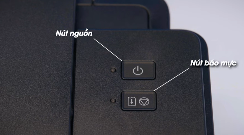 Máy in phun màu đơn năng Canon PIXMA G1010 - Nhấn nút nguồn mở máy