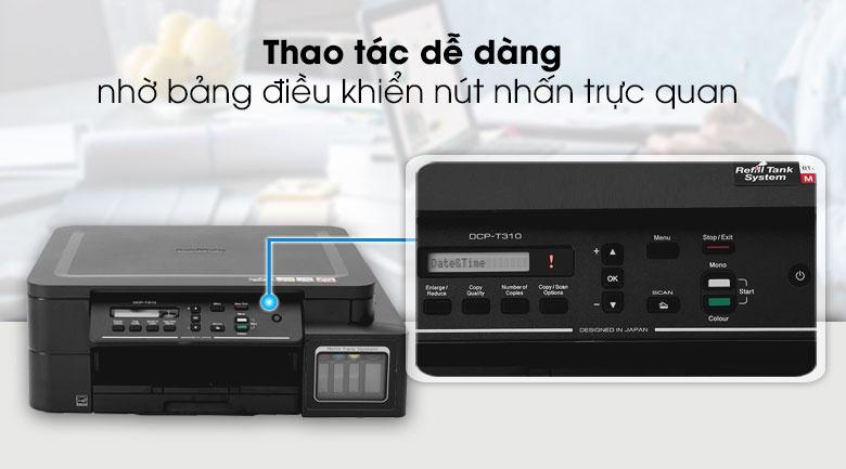 Máy in phun màu đa năng In Scan Copy Brother DCP - T310 - Dễ sử dụng