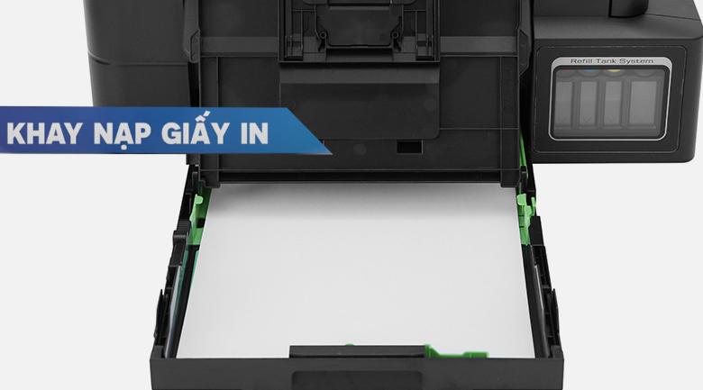 Máy in phun màu đa năng Brother DCP-T310 - Kéo khay nạp giấy ra, đặt cỡ giấy muốn in vào