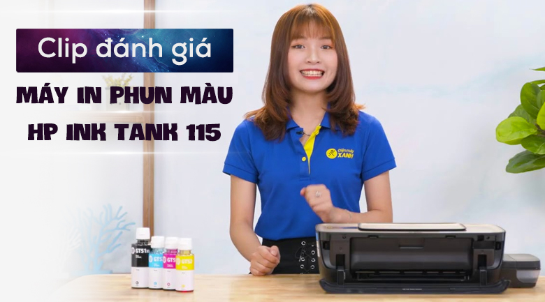 Máy in phun màu HP Ink Tank 115 (2LB19A)