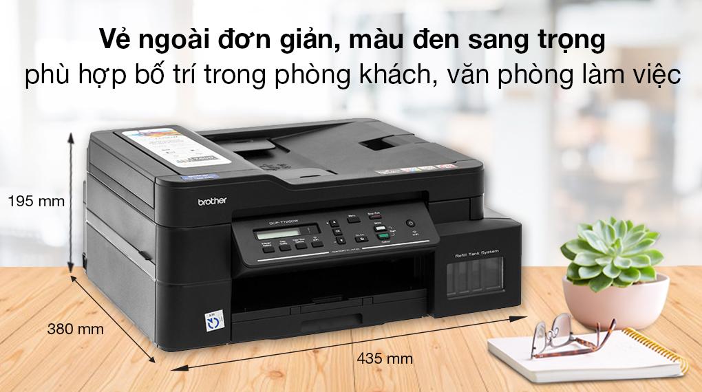 Máy in phun màu đa năng In-Scan-Copy Brother DCP-T720DW - Thiết kế