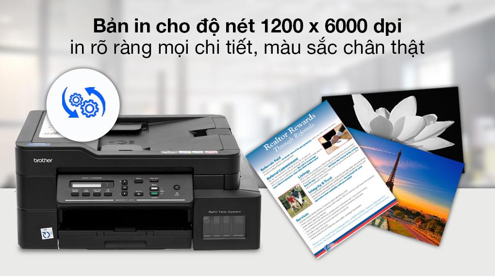 Máy in phun màu đa năng In-Scan-Copy Brother DCP-T720DW - Độ nét