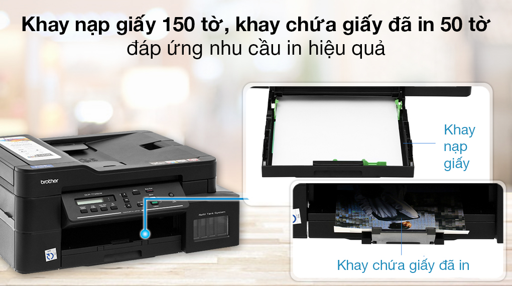 Máy in phun màu đa năng In-Scan-Copy Brother DCP-T720DW - Khay nạp giấy