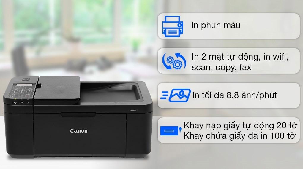 Máy in phun màu Canon TR4570S đa năng WiFi