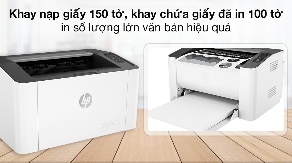 Máy in Laser Trắng Đen HP 107w WiFi (4ZB78A) - Khay nạp giấy