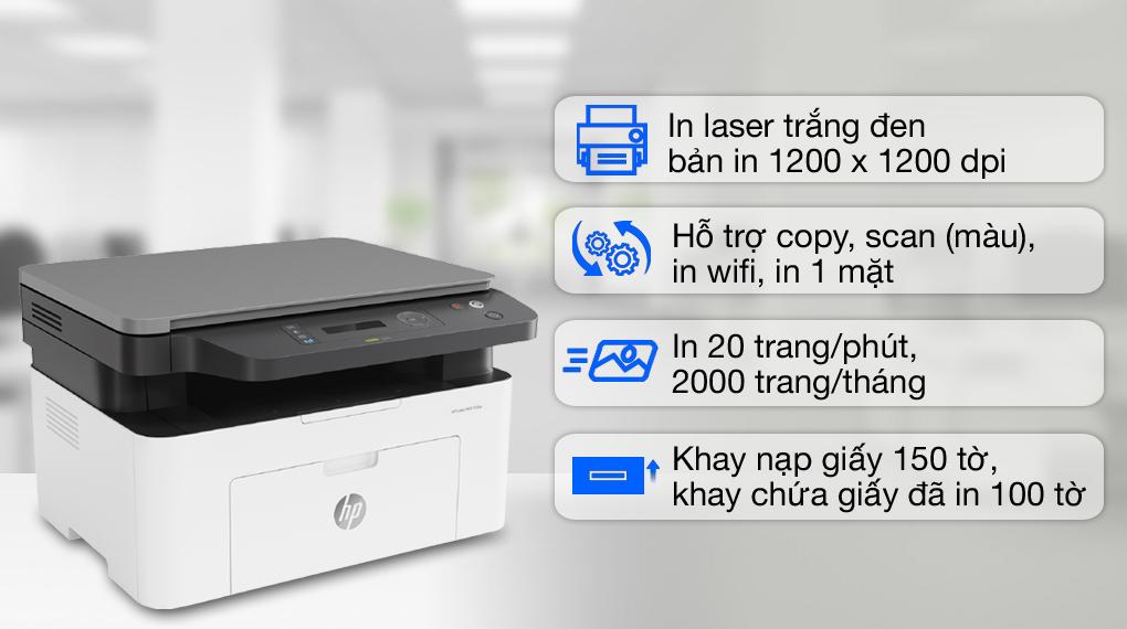 HP Laser đa năng LaserJet MFP 135w WiFi (4ZB83A)