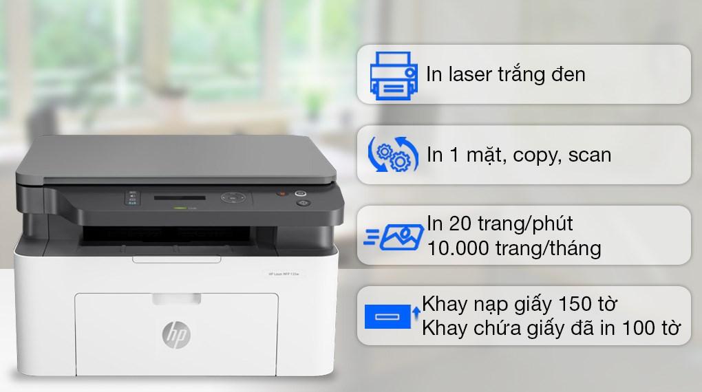 HP Laser Trắng đen đa năng LaserJet 135a (4ZB82A)