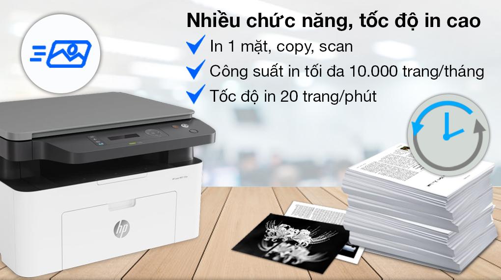 Máy in HP Laser Trắng đen In scan copy LaserJet 135a giá tốt - 1