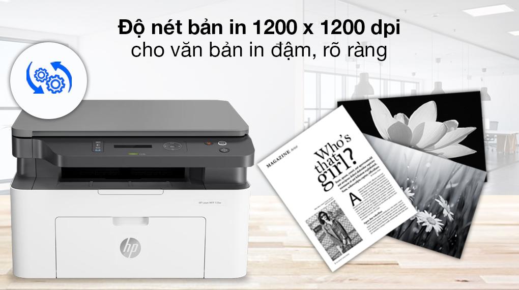 Máy in HP Laser Trắng đen In scan copy LaserJet 135a giá tốt - 2