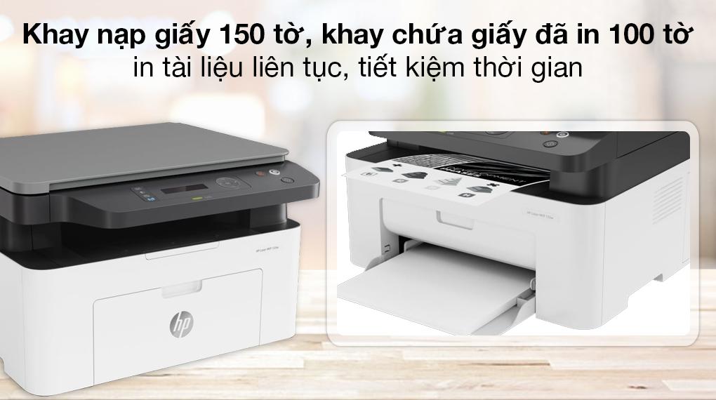 Máy in HP Laser Trắng đen In scan copy LaserJet 135a giá tốt - 3