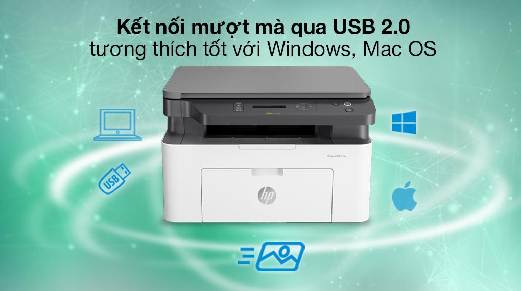Máy in HP Laser Trắng đen In scan copy LaserJet 135a giá tốt - 4