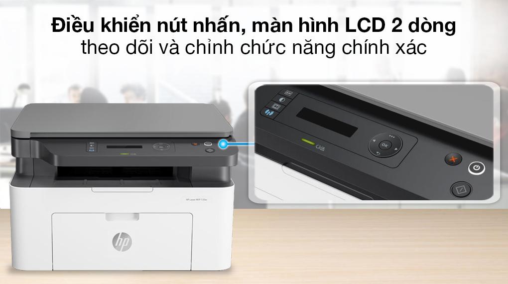 Máy in HP Laser Trắng đen In scan copy LaserJet 135a giá tốt - 5