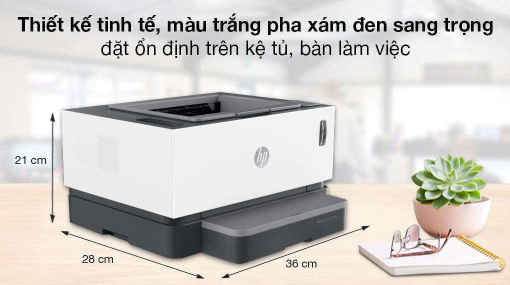 Máy in Laser đơn năng HP Neverstop 1000a (4RY22A) - Thiết kế