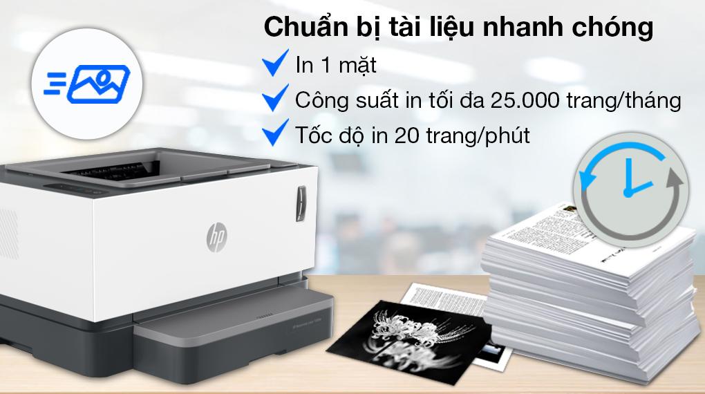 Máy in Laser đơn năng HP Neverstop 1000a (4RY22A) - Công suất in