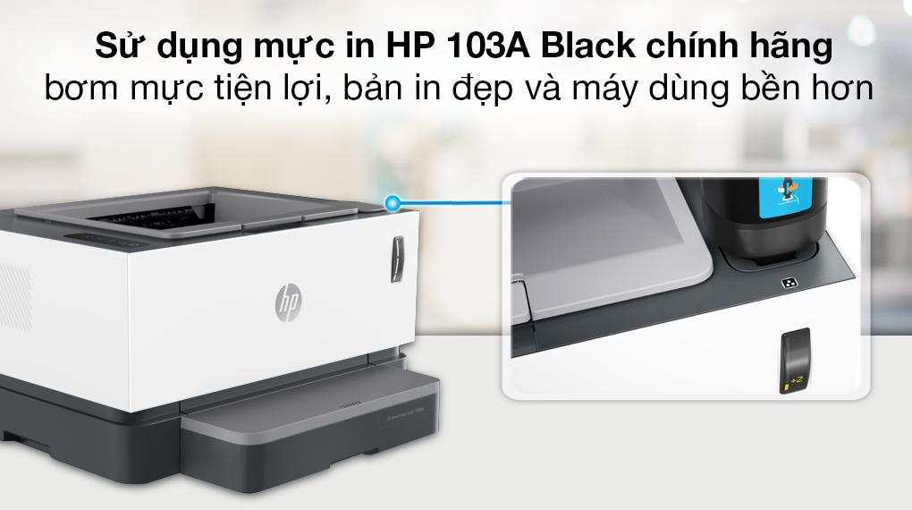 Máy in Laser đơn năng HP Neverstop 1000a (4RY22A) - Mực in