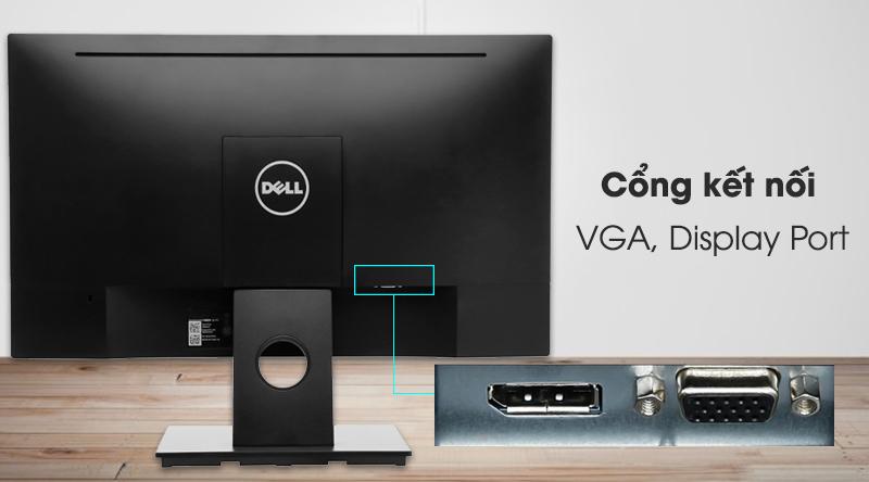 Cổng kết nối mặt sau màn hình LCD Dell