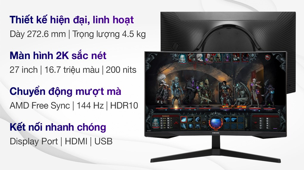 Samsung LCD Gaming 27 inch WQHD (LC27G55TQWEXXV)