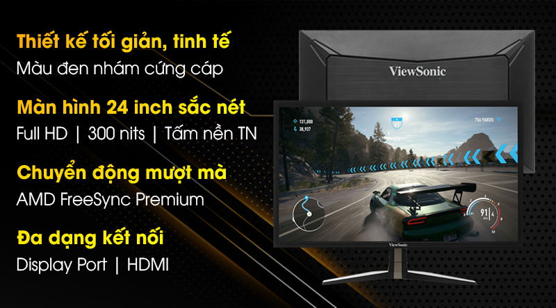 Viewsonic LCD Gaming VX2458-P-MHD 24 inch Full HD 144Hz 1ms