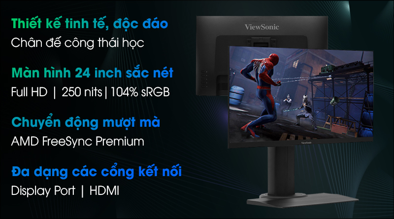 Viewsonic LCD Gaming XG2405 24 inch Full HD 144Hz 1ms