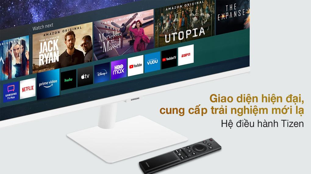 Samsung Smart Monitor M5 27 inch (LS27AM501NEXXV) - Hệ điều hành Tizen