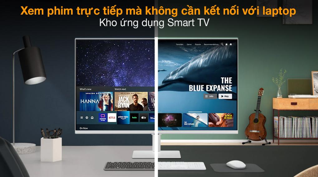 Samsung Smart Monitor M5 27 inch (LS27AM501NEXXV) - Kho ứng dụng Smart TV