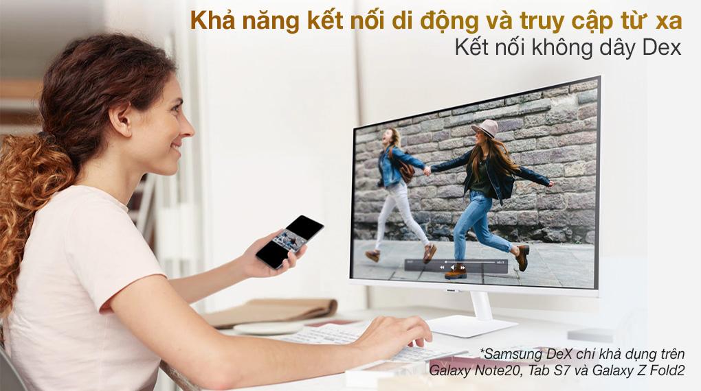 Samsung Smart Monitor M5 27 inch (LS27AM501NEXXV) - Kết nối không dây Dex