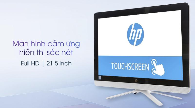 HP AIO 22-B201D có màn hình cảm ứng cực nhạy