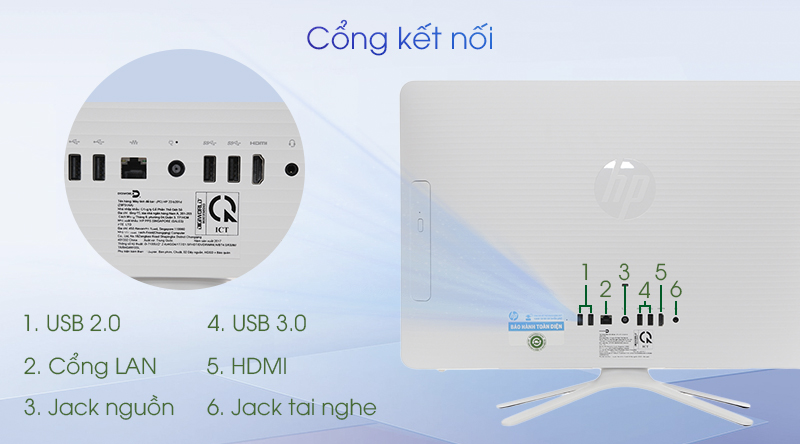 Kết nối đa dạng và dễ dàng với HP AIO 22-B201D