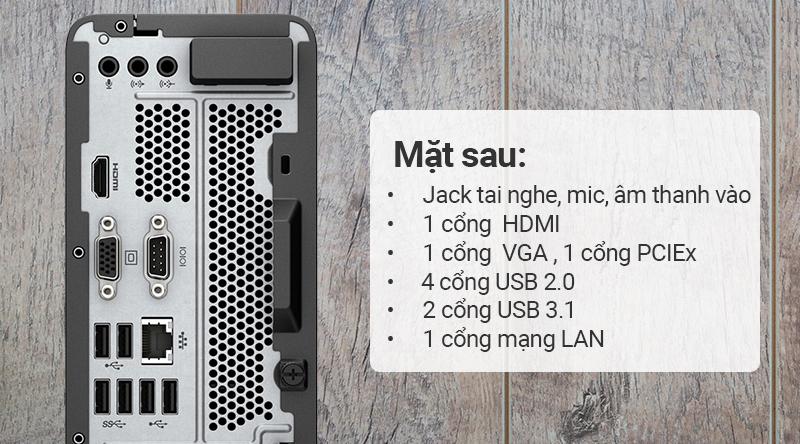HP Slimline 290-p0112d G5420 đầy đủ cổng kết nối