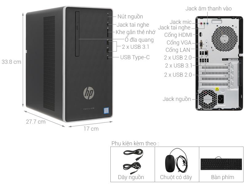 Thông số kỹ thuật HP Pavilion 590-p0111d (6DV44AA)