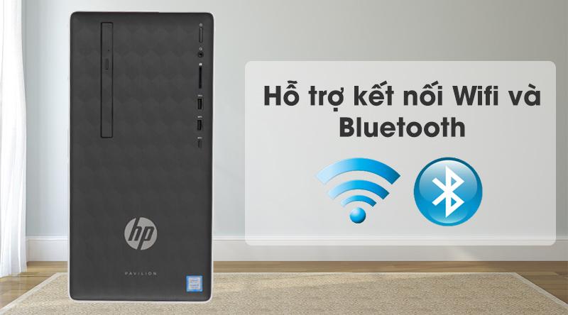 Máy tính để bàn HP Pavilion 590 p0111d i5 (6DV44AA) kết nối Wifi và bluetooth