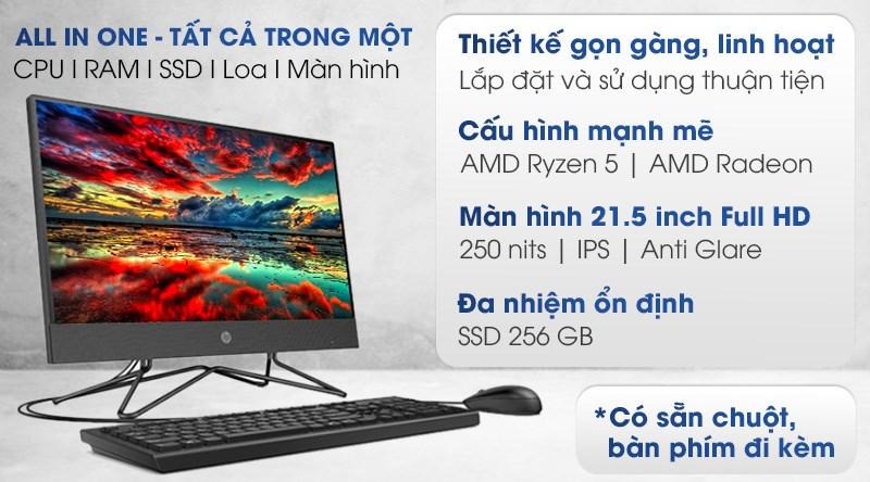 HP 205 Pro G4 AIO R5 4500U/8GB/256GB/21.5 inch  (31Y60PA)