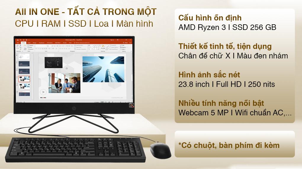 HP 205 Pro G4 AIO R3 4300U/4GB/256GB/23.8 inch (31Y22PA)