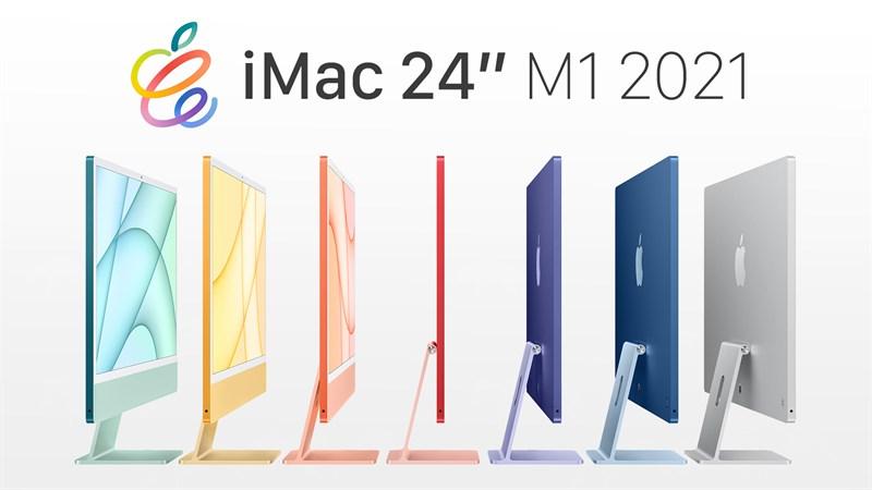 iMac 24 inch 2021 4.5K M1 8GPU (MGPC3SA/A) Silver