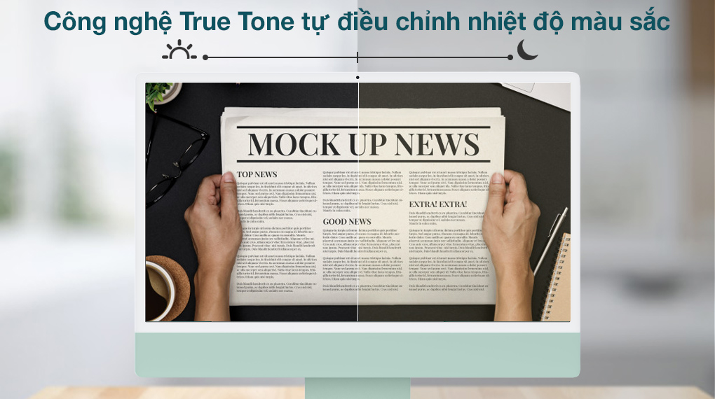 iMac 24 inch 2021 4.5K M1 8GPU (MGPJ3SA/A) Green - Độ sáng