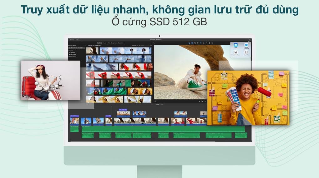 iMac 24 inch 2021 4.5K M1 8GPU (MGPJ3SA/A) Green - SSD
